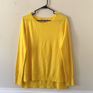 Philosophy yellow light weight knit sweater